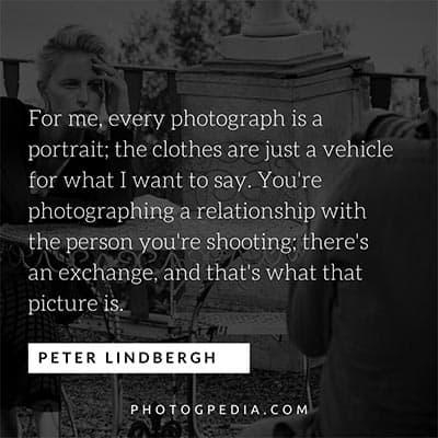 Peter Lindbergh Portrait Quotes