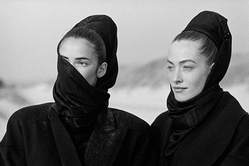 Linda Spearing and Tatjana Patitz 1986