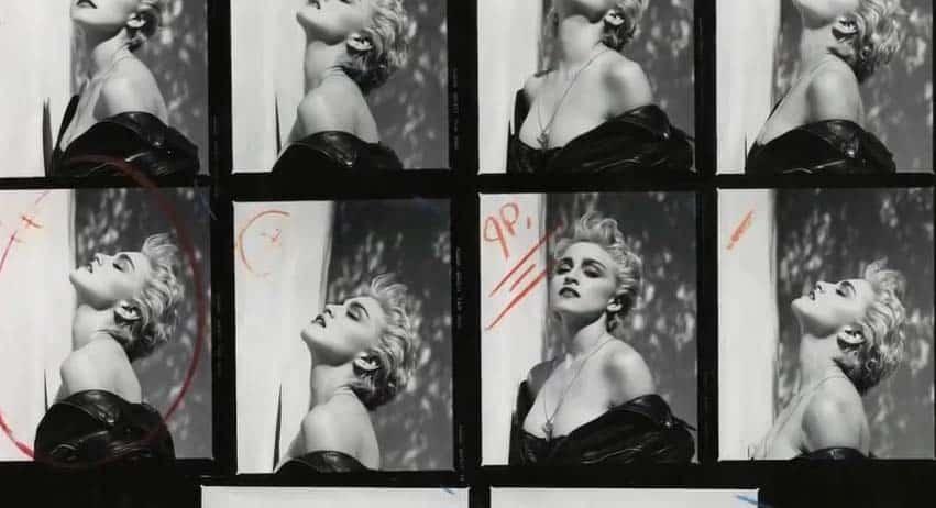 Madonna, True Blue, Contact Sheet
