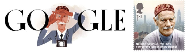 norman parkinson google doddle and stamp