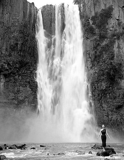 Wenda Parkinson at Howick Falls