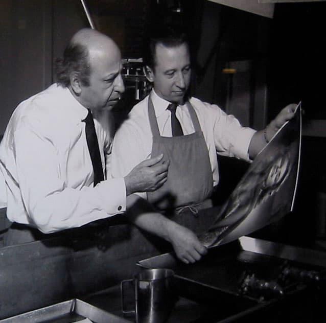 Yousuf Karsh and Printer