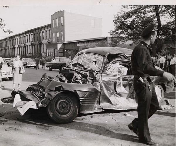 Car and truck collision