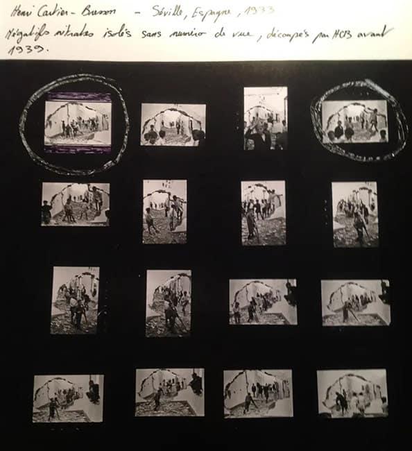 Henri Cartier-Bresson, Contact sheet