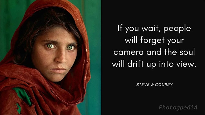 McCurry Quotes, Afghan Girl