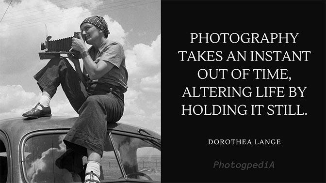 Dorothea Lange Quotes 1