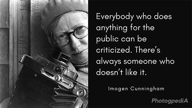 Imogen Cunningham Quotes 1